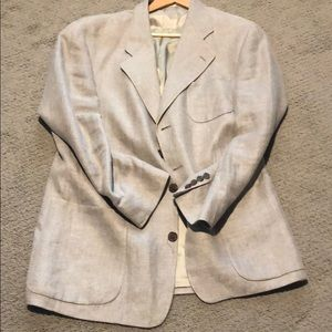 Linen Suit Jacket by Polo University